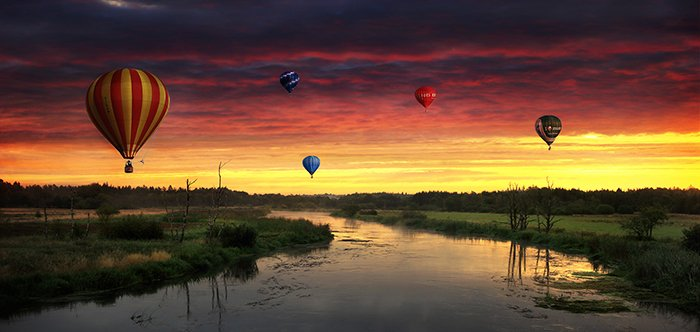 Balloon sunrise